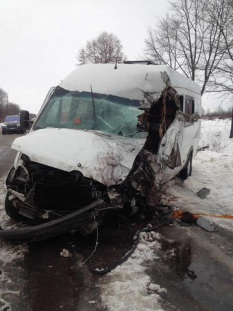 Через лобове зіткнення  мікроавтобусів загинуло двоє осіб: наслідки ДТП (ФОТО)