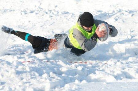 На Закарпатті спортсмени гратимуть в регбі на снігу