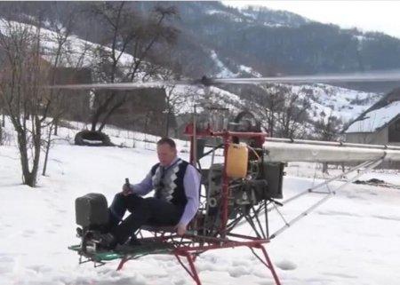 Житель Рахівщини змайстрував свій гвинтокрил (Відео)