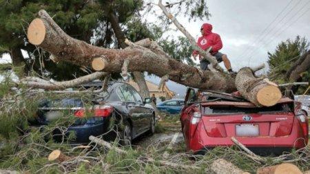 Через шторм дві автівки провалилися під асфальт: моторошне відео