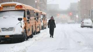 Снігова буря  накрила Східне узбережжя США (ФОТО)