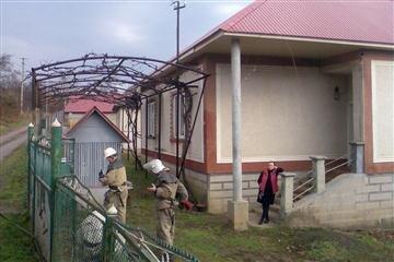Блискавка не оминула будинок в Іршаві (Фото)