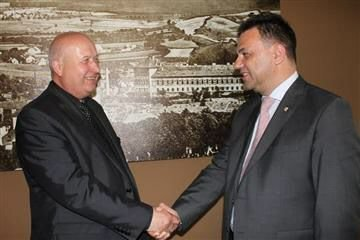 Михайло Рівіс у Празі мав нагоду зустрітися з гетьманом Устецького краю Олдріджем Бубенічековим