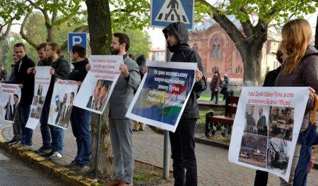 В Ужгороді провели акцію проти угорського сепаратизму (фото)