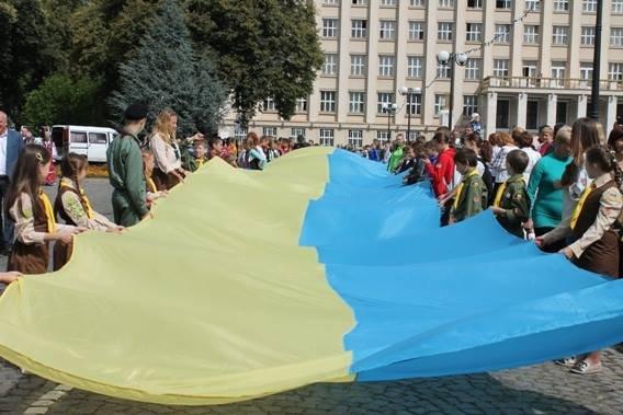 Закарпатська поліція долучилася до святкування Дня Державного Прапора України