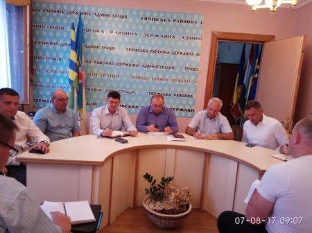 Голова Тячівської райдержадміністрації провів понеділкову нараду