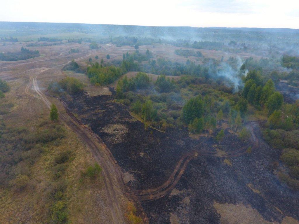 УЧеркаській області оголошено режимНС через пожежу наторфовищах