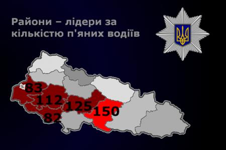 Правоохоронці оприлюднили інформацію – райони лідери за кількістю п'яних водіїв (фото)