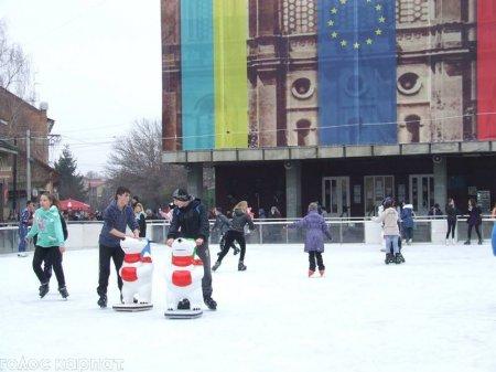В Берегові організували безкоштовні зимові розваги для дітей (фото)