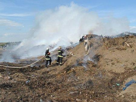 На Закарпатті горіли сміття, контейнери, автомобільні шини