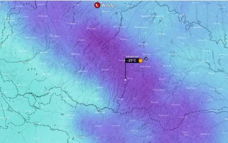 Сибірські морози доберуться до Закарпаття температура опуститься до -23 градуси Цельсія