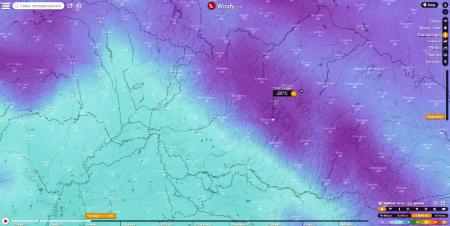 В пік морозів на Закарпатті найбільше пониження температури -25 очікується на Міжгірщині