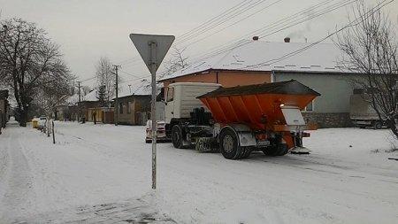 В Берегові працює спецтехніка - вулиці розчищені та посипані (фото)
