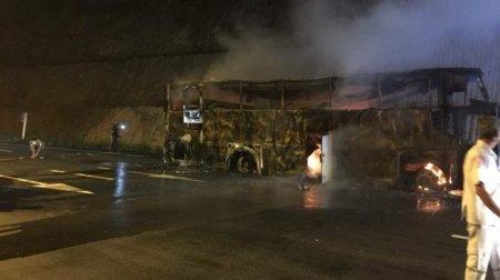 20 заробітчан загинули у палаючому автобусі (ФОТО)