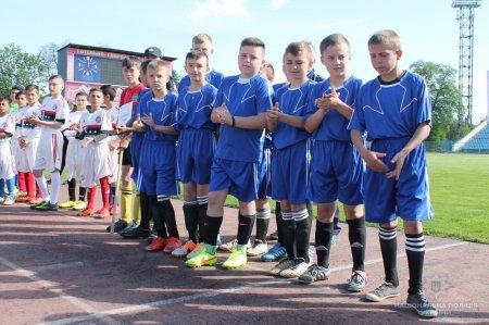 Поліція урочисто відкрила фінал чемпіонату області з футботу для дітей краю