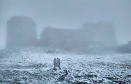На Рахівщині у горах випав сніг