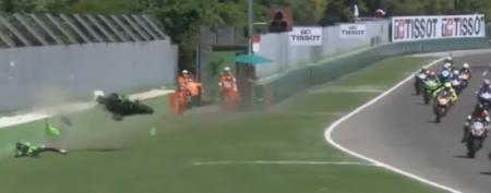 19-річний український мотогонщик потрапив у жахливу ДТП на змаганнях в Італії