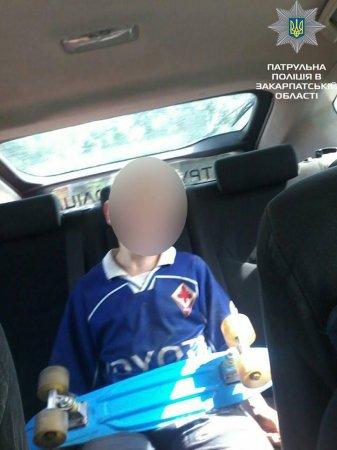 Велопатрульні знайшли малолітнього закарпатця, який втік з дому