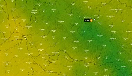 На Закарпатті очікується значне пониження температури, дощі не передбачаються