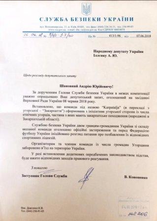 СБУ прийняла рішення по футболістам так званої збірної Закарпаття