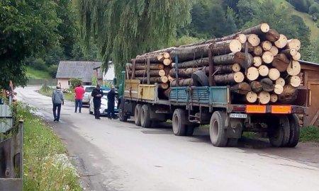 """На Рахівщині небайдужі громадяни та активісти зупинили грузовий автомобіль навантажений діловою деревиною кругляком ПП""""Прізма"""" (ФОТО)"""
