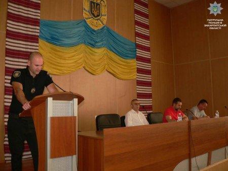 Про перехід на посилений варіант несення служби патрульних говорили в Мукачеві (ФОТО)
