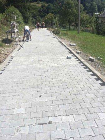 На Воловеччині мостять бруківкою під'їзд до Бункера «Лінії Арпада» (ФОТО)