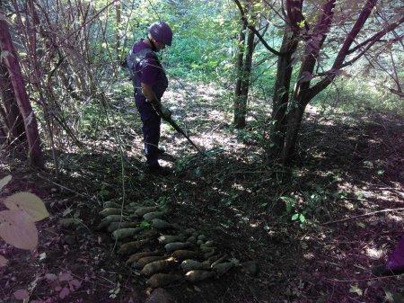 Небезпечні предмети знищили піротехніки ДСНС Закарпаття (ФОТО)