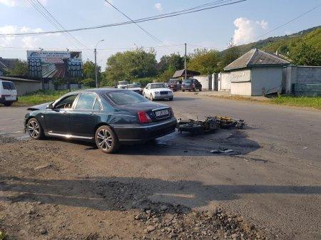 ДТП у Виноградові за участю мотоцикліста (фото)