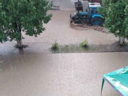 Шалені потоки води і бруду: Рахів затопило після зливи (ФОТО)