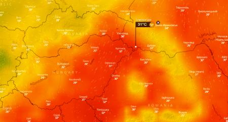 Погода на Закарпатті онлайн – метеокарта радара погоди