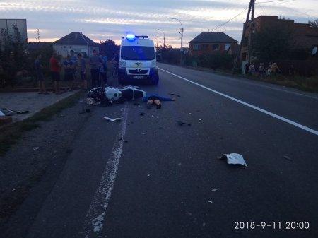 На трасі Київ-Чоп у жахливому ДТП загинув мотоцикліст (ФОТО)