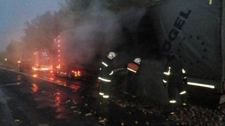 Пожежа на трасі Київ-Чоп-подробиці (ФОТО)