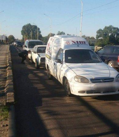 """""""Ловив гав"""": ДТП в Ужгороді, через необачність побиті 4 автівки (фото)"""