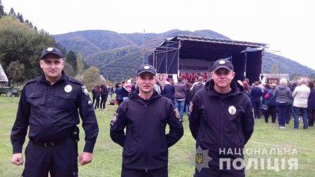 Поліція Закарпаття забезпечила порядок на 46 масових заходах з п'ятниці до неділі