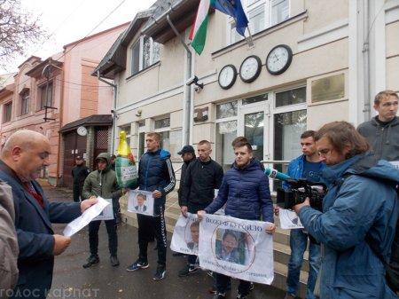 Скандал з угорськими паспортами: активісти на мітингу вимагали закриття консульства у Береговому (відео)