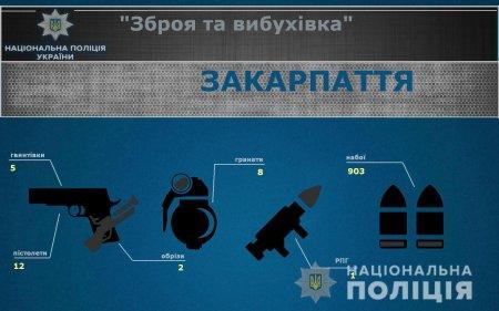 У закарпатців вилучають велику кількість зброї та вибухівки (ФОТО)
