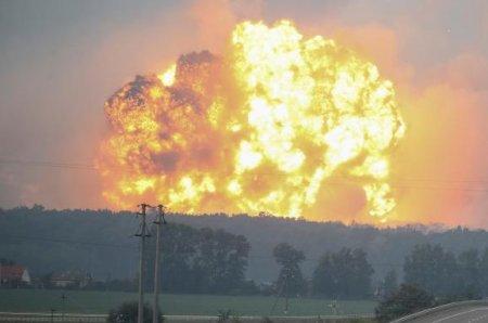 Оперативна інформація щодо ліквідації наслідків пожежі на території 6 арсеналу Міністерства оборони поблизу смт Дружба (станом на 12:30 год. 10 жовтня)