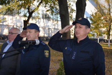 Урочисті заходи з нагоди Дня захисника України провели рятувальники Закарпаття