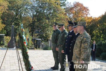 Керівництво закарпатської поліції долучилося до відзначення Дня Захисника України