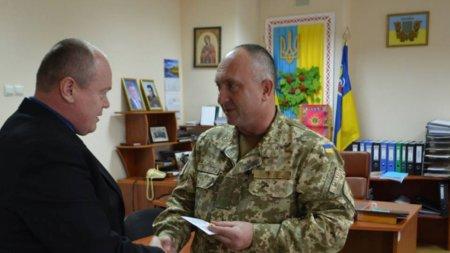Голова Рахівської районної державної адміністрації Павло Басараба отримав від військових почесну нагороду