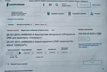 Украерорух оголосив тендер на придбання радіонавігаційної системи для Ужгородського аеропорту