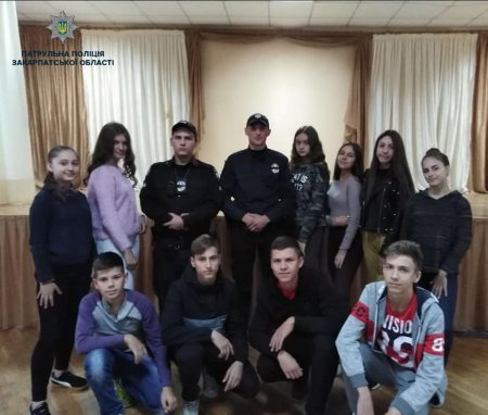 Ще одне практичне заняття з дітками провели патрульні в Мукачеві