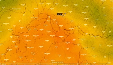 На Закарпаття повертається літо температура поб'є всі рекорди (метеокарта)