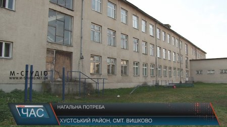 Школа у Вишкові на Хустщині потребує негайного ремонту (ВІДЕО)