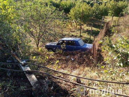 Четверо молодиків, серед них один неповнолітній вкрали автомобіль та потрапивши в ДТП на Берегівщині
