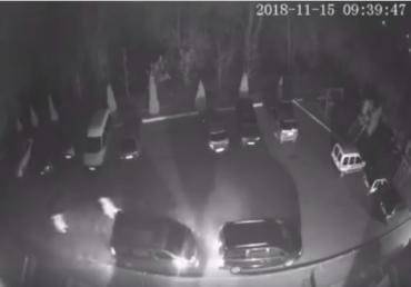 Соцмережі: з'явилось відео, як обкрадають автомобілі в Чопі (ВІДЕО)