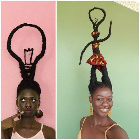 Дівчина створює зі свого волосся дивні скульптури (Фото)