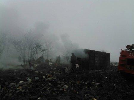 У  Сваляві гасили  пожежу на сміттєзвалищі (ФОТО)