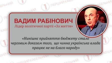 «Рада невідкладно прийняла убивчий для людей БЮДЖЕТ-2019 на догоду МВФ», – зауважив Рабінович